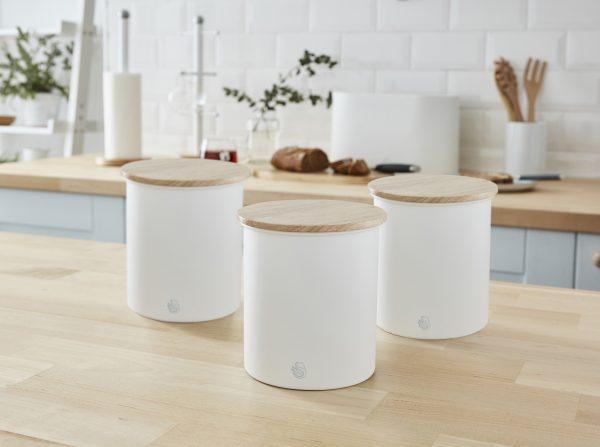Swan Nordic - eldhúsbox - 3stk sett hvítt