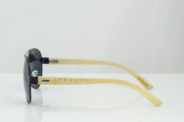 Vanacci - sólgleraugu bambus aviator